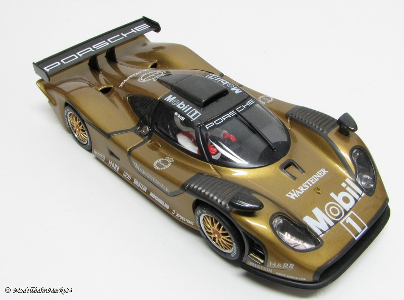 fly car model porsche 911 gt1 98 racing evo rs2 gold ebay. Black Bedroom Furniture Sets. Home Design Ideas
