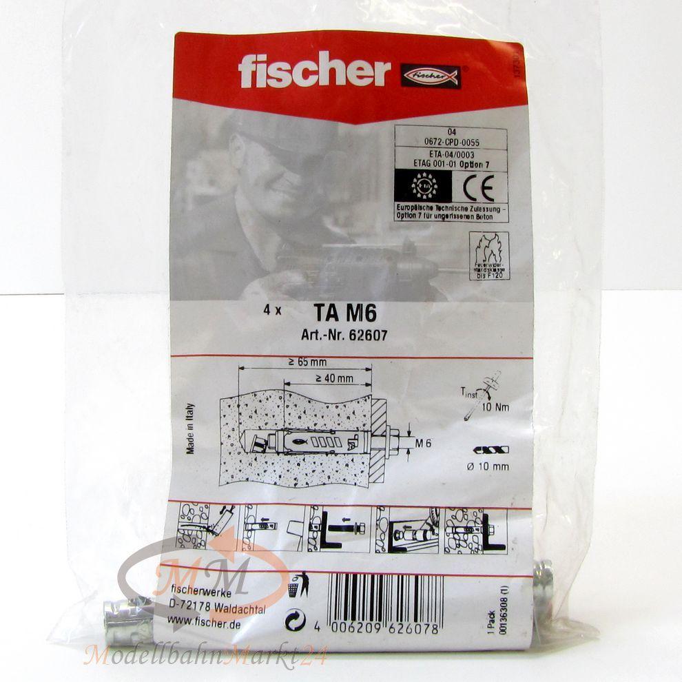 Fischer Dubel 62607 Schwerlastanker Ta M6 Vpe 4 Stuck Neu