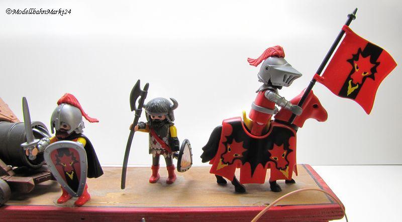Playmobil 8 ritter pferde kutsche kanone fertigmodell - Pferde playmobil ...