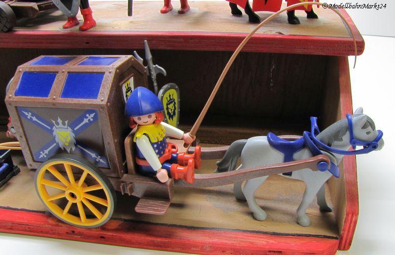 Playmobil 8 ritter pferde kutsche kanone fertigmodell - Playmobil kutsche ...