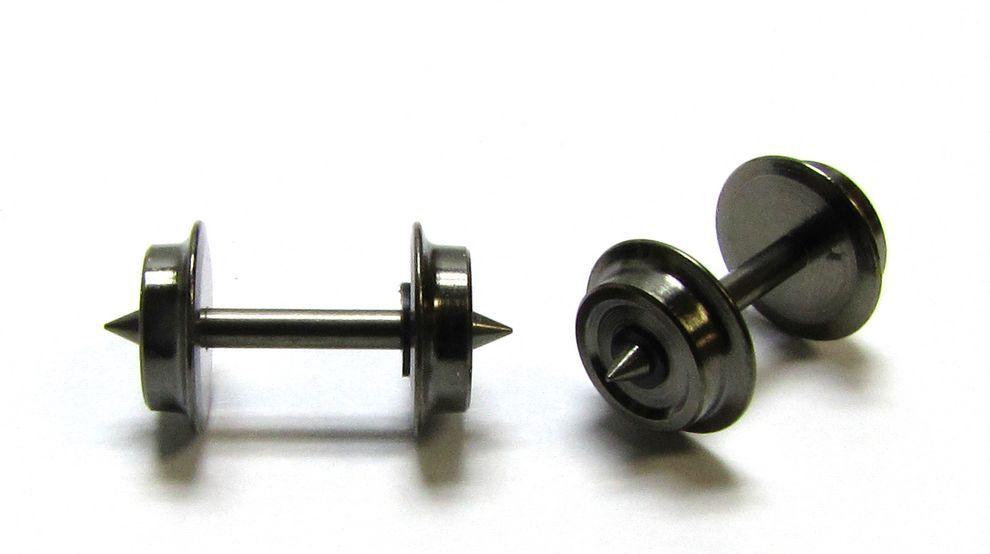 Neu! Achslänge:15,2mm einseitig isol 30 N-Radsätze//Achsen f Piko Lkdm: 5,6mm