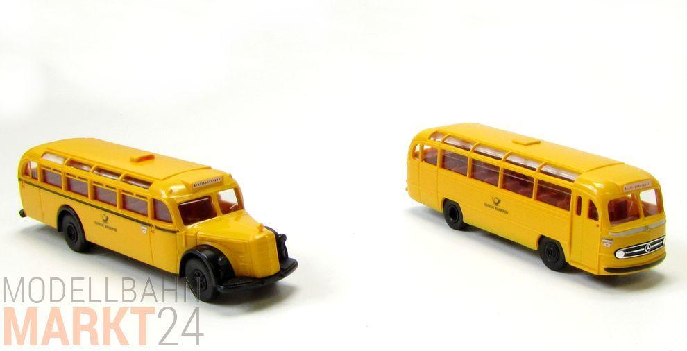 Brekina 1//87 Serie 11 Deutsche Post 2 x Mercedes Benz Omnibus O 1000 OVP #254