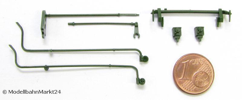 für ROCO 43216 Dampflok BR C H0 NEU Ersatz-Puffer-Paar rund flach//gewölbt z.B