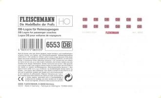 4 x FLEISCHMANN 9554 DB-Logos Ep V z.B für ICE-Fahrzeuge 7440-7449 Spur N NEU