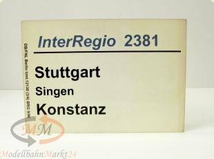 DB Zuglaufschild InterRegio 2381