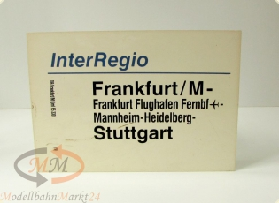 DB Zuglaufschild InterRegio