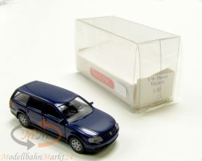 WIKING 038 01 20 VW Passat Variant 5-t�rig in blau Modell im Ma�stab 1:87
