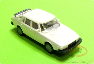 WIKING 12215 Saab 900 Turbo 4-t�rig in wei� Modell im Ma�stab 1:87