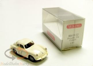 WIKING 814 01 22 Porsche 356 Coupe in wei� Modell im Ma�stab 1:87