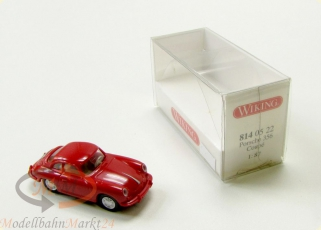 WIKING 814 05 22 Porsche 356 Coupe mit Verglasung rot Modell im Ma�stab 1:87