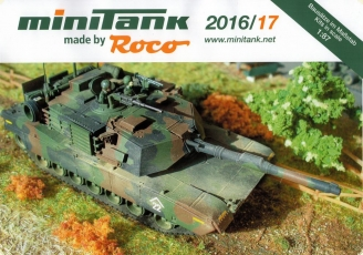 ROCO/MINITANK Brochure leaflet catalog 2016/17 Tanks Military H0 1:87 NEW