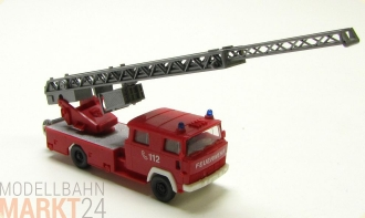 WIKING Feuerwehr Magirus Drehleiter DL 30 in rot Farbe Modell Ma�stab H0 1:87