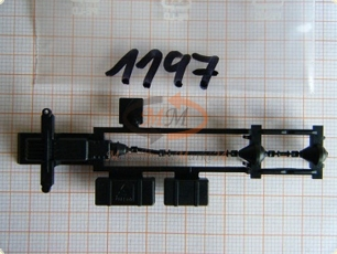 10x ALBEDO Ersatzteil Ladegut Chassis 40t Pritsche Container H0 1:87-0559