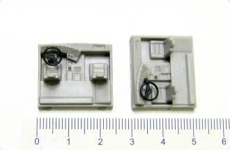10 x ALBEDO Ersatz-Motorhaube ohne Grill für MB Hauber anthrazit 1:87 H0-2468