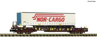 FLEISCHMANN 825335 AAE Doppeltragwagen Sggmrs SAMSKIP-Container KK N NEU