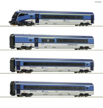 "ROCO 74066 CD 4-tlg. Set: ""Railjet"" Plux16 H0 AC"
